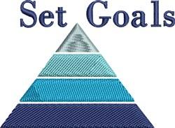 Set Goals embroidery design