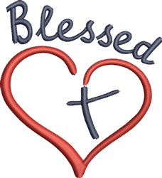 Blessed Heart embroidery design