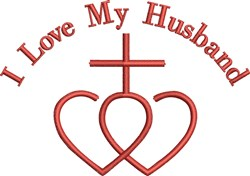 Love My Husband embroidery design