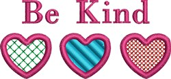 Be Kind Hearts embroidery design