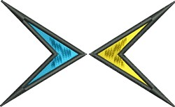 Twin Arrows embroidery design