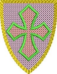 Heraldry Shield embroidery design