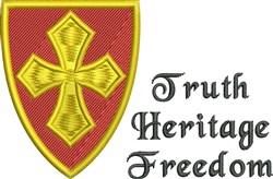 Truth Shield embroidery design