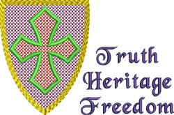 Heritage Shield embroidery design
