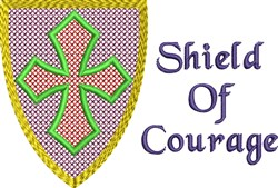Courage Shield embroidery design