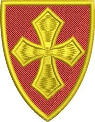 Cross Shield embroidery design