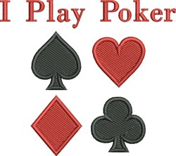 Play Poker embroidery design