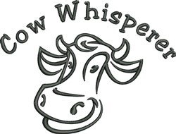 Cow Whisperer embroidery design