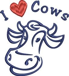 I Love Cows embroidery design