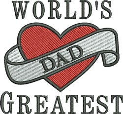 Greatest Dad embroidery design