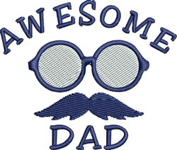 Awesome Dad embroidery design