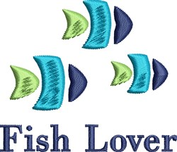 Fish Lover embroidery design