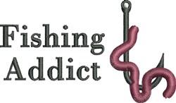 Fishing Addict embroidery design