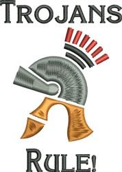 Trojans Rule embroidery design
