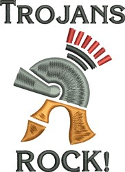 Trojans Rock embroidery design