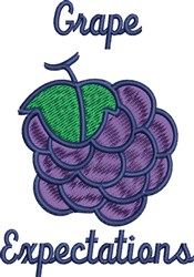 Grape Expectations embroidery design