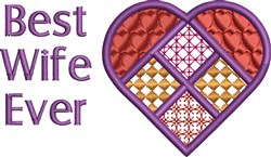Best Wife embroidery design