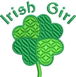 Irish Girl embroidery design