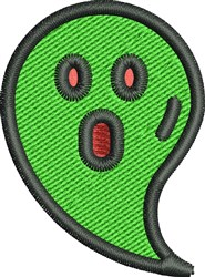 Green Ghost embroidery design