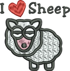 Love Sheep embroidery design