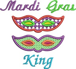 Mardi Gras King embroidery design
