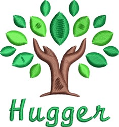 Hugger embroidery design
