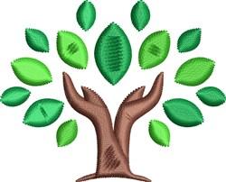 Leafy Tree embroidery design