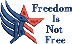 Freedom Star embroidery design