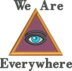 We Are Everywhere embroidery design