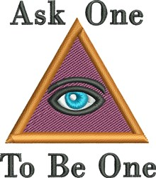 Ask One embroidery design