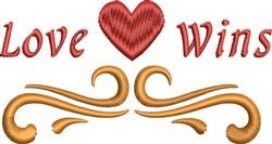 Love Wins embroidery design