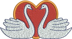 Swan Heart embroidery design