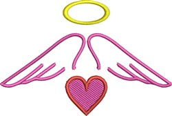 Halo Wings embroidery design