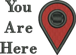 You Are Here embroidery design