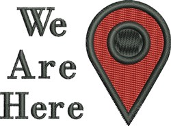 We Are Here embroidery design