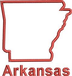 Arkansas  Outline embroidery design