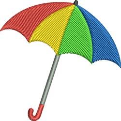 Colorful Umbrella embroidery design