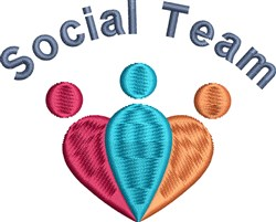 Social Team embroidery design