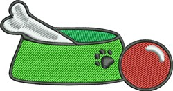 Dog Bowl embroidery design