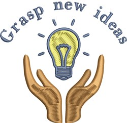 Grasp New Ideas embroidery design