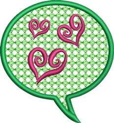 Love Bubble embroidery design