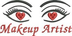 Makeup Artist embroidery design