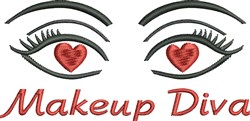 Makeup Diva embroidery design