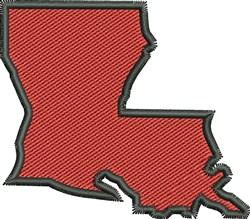 Louisiana embroidery design