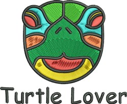 Turtle Lover embroidery design