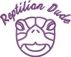 Reptilian Dude Outline embroidery design