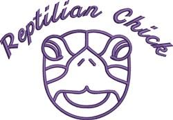 Reptilian Chick Outline embroidery design