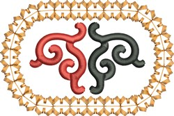 Oval Scrollwork embroidery design