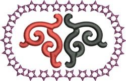 Star Scrollwork embroidery design