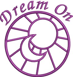 Dream On Outline embroidery design